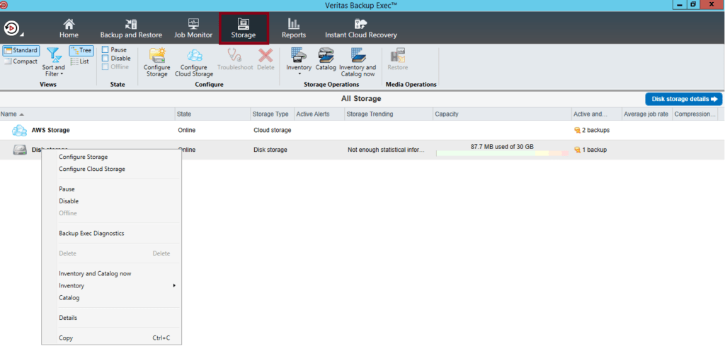 What are Veritas Backup Exec 20 features 458