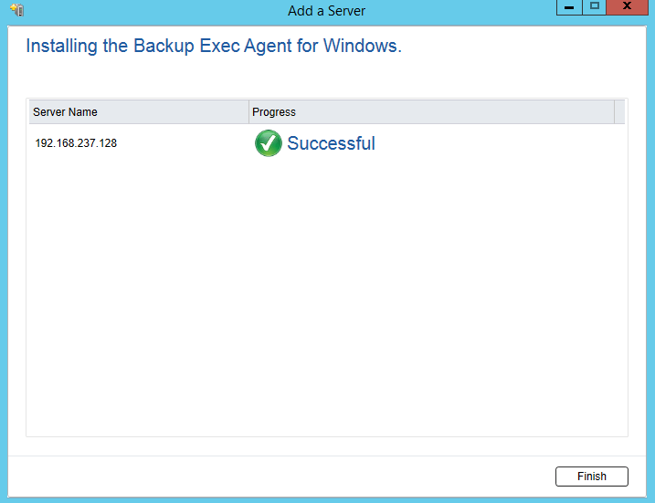 How to install Remote Agent for Windows Servers in Backup Exec 20.5 444