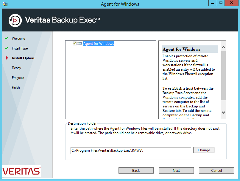 How to install Backup Exec Remote Agent for Windows manually? 431
