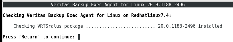 How to install Remote Agent on Linux server in Backup Exec 20 417