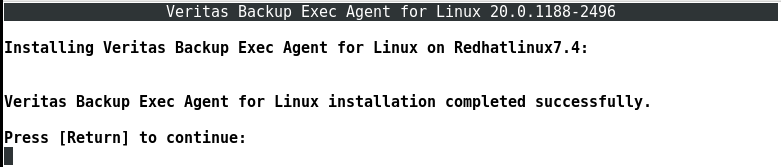 How to install Remote Agent on Linux server in Backup Exec 20 418