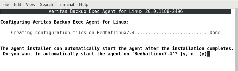 How to install Remote Agent on Linux server in Backup Exec 20 419