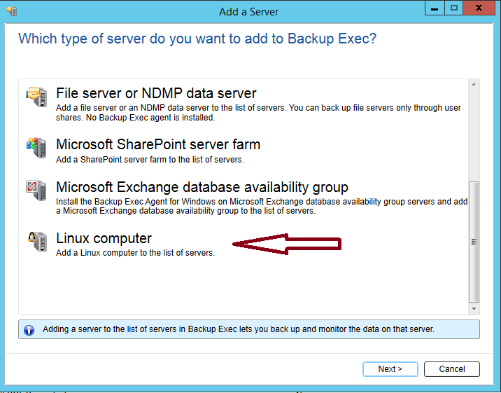How to install Remote Agent on Linux server in Backup Exec 20 422