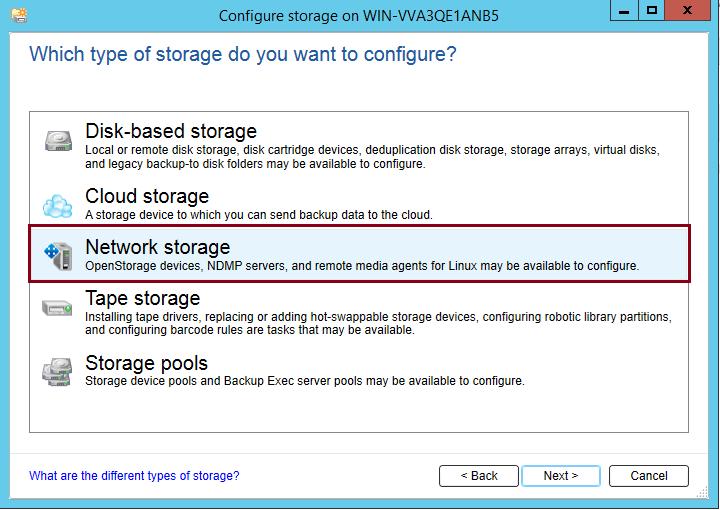 How to add Netapp Storage to Backup Exec 20? 396