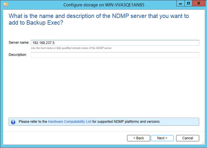 How to add Netapp Storage to Backup Exec 20? 398