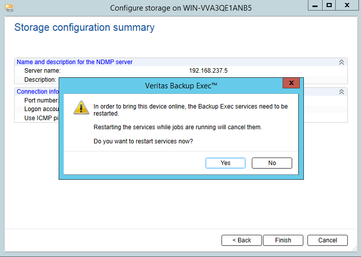 How to add Netapp Storage to Backup Exec 20? 401