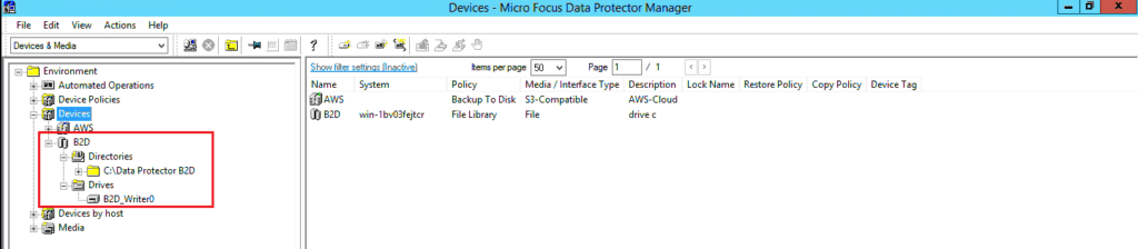 How to configure B2D storage to Data Protector 272