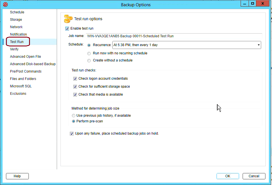 How to create Windows Server backup in Backup Exec 20 334