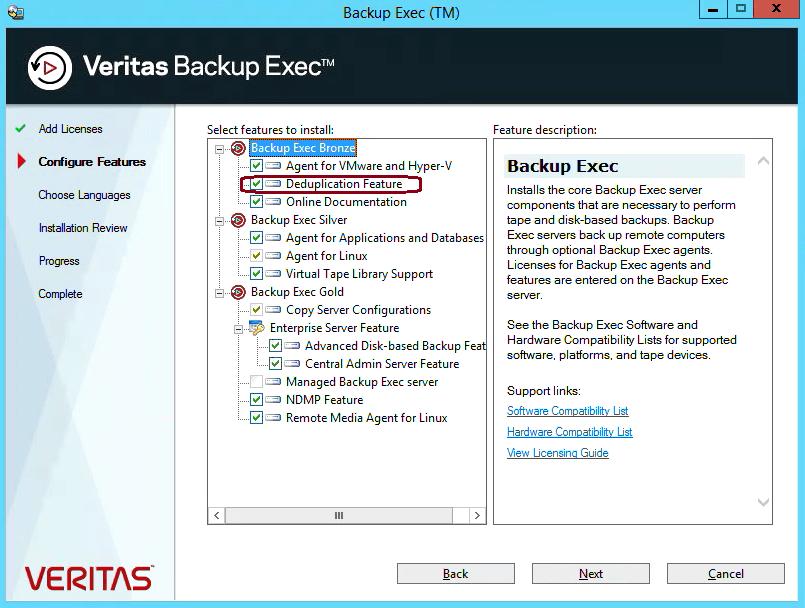 How to create Deduplication storage in Backup Exec 20 301