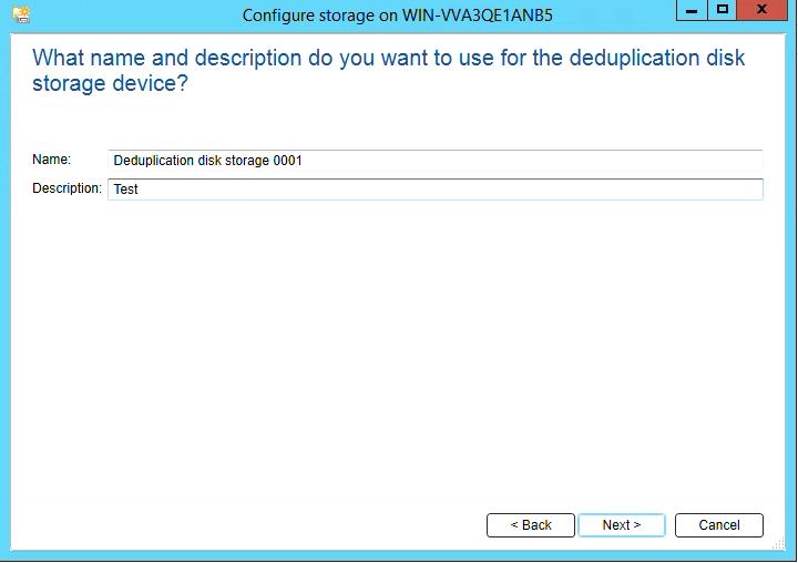 How to create Deduplication storage in Backup Exec 20 308