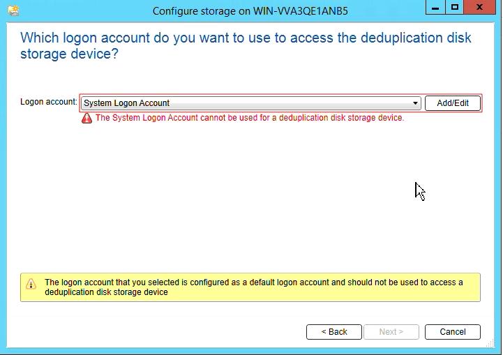How to create Deduplication storage in Backup Exec 20 310
