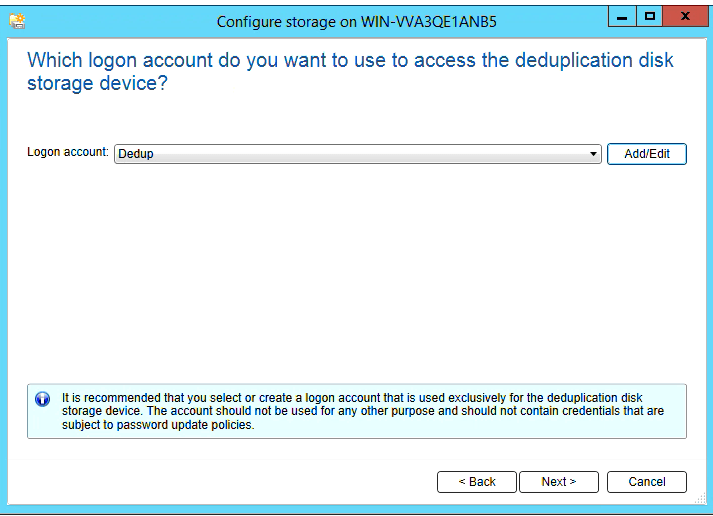 How to create Deduplication storage in Backup Exec 20 312