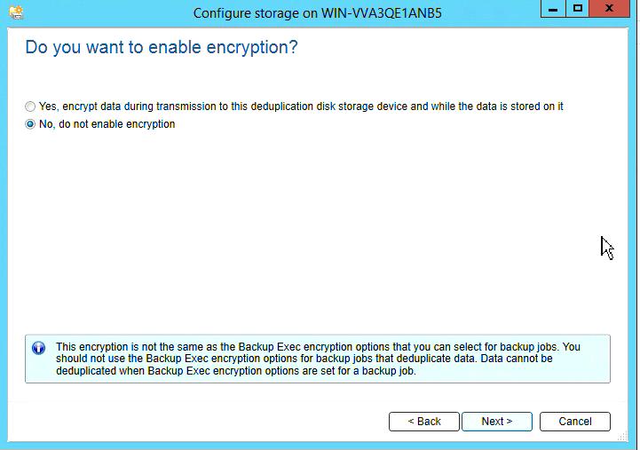 How to create Deduplication storage in Backup Exec 20 313