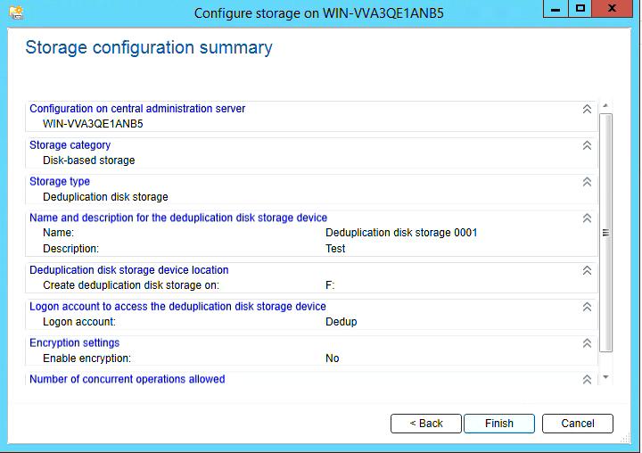How to create Deduplication storage in Backup Exec 20 315