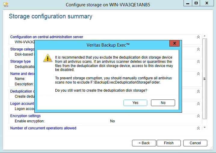How to create Deduplication storage in Backup Exec 20 316