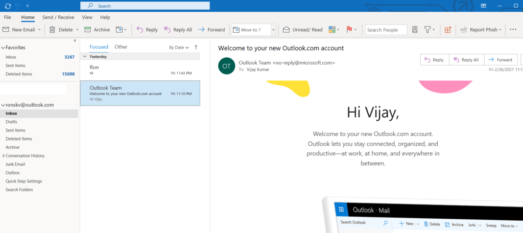 What are the features of Microsoft Outlook 365? 163