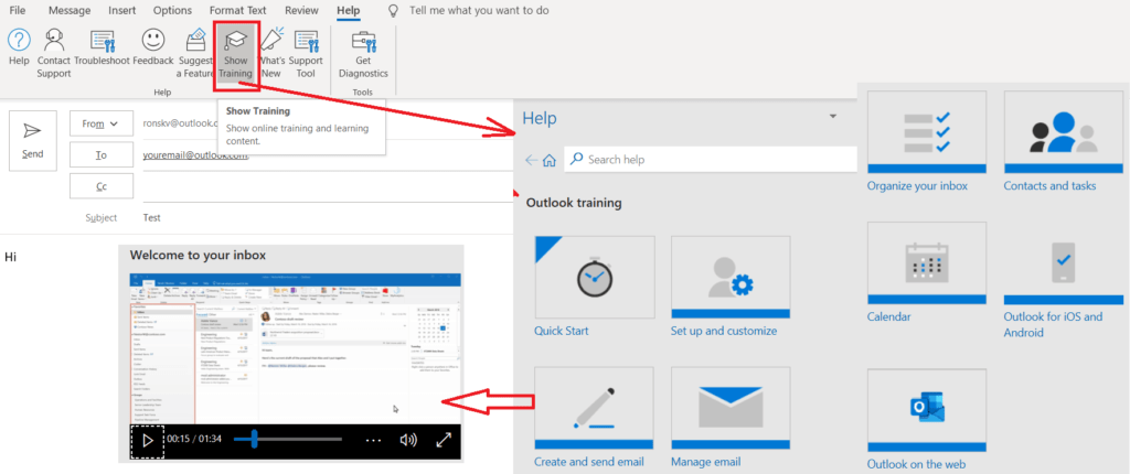 What are the features of Microsoft Outlook 365? 175