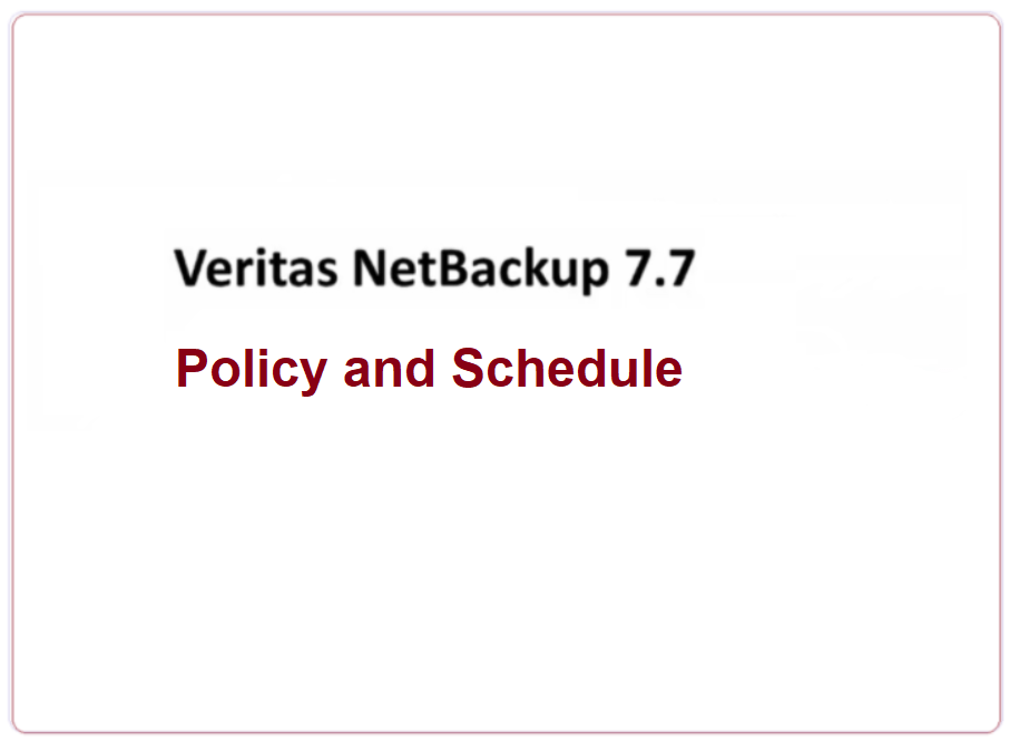How to create NetBackup Policy and schedule 206