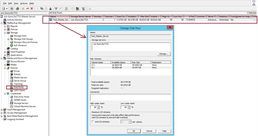 How to create AdvancedDisk Pool in NetBackup? 60