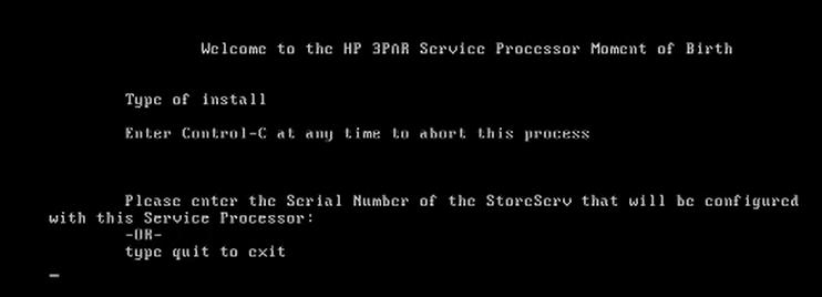 How to install 3par Virtual Service Processor 4.4 140