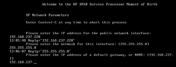 How to install 3par Virtual Service Processor 4.4 141