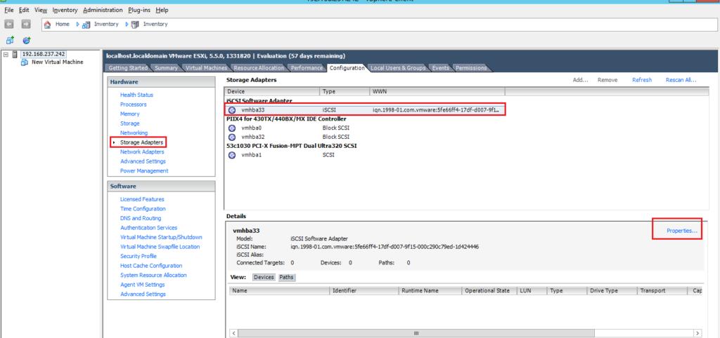 How to Add iSCSI Storage to Datastore in Vmware ESXi 5.5 104