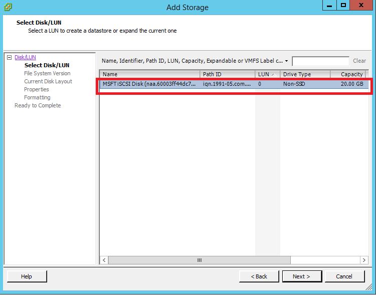 How to Add iSCSI Storage to Datastore in Vmware ESXi 5.5 110